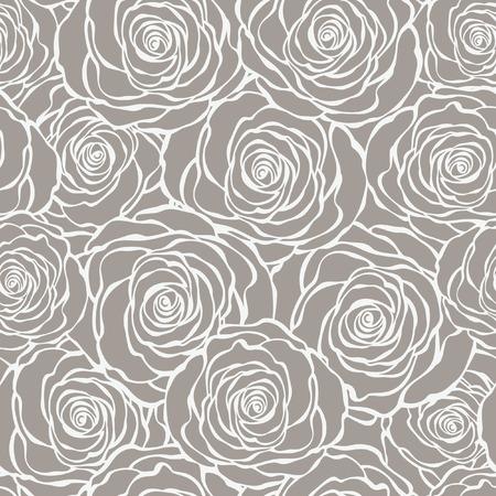 Art Deco bloemen naadloze patroon met rozen Stock Illustratie