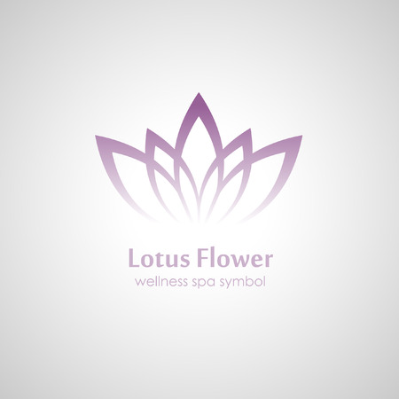 an inflorescence: Lotus symbol icon Illustration
