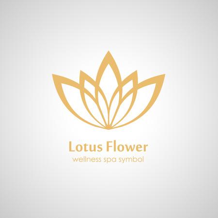 inflorescence: Lotus symbol icon Illustration