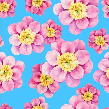seamless pattern: Peony watercolor seamless pattern