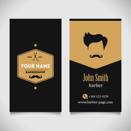 Hair salon barber shop Business Card design template