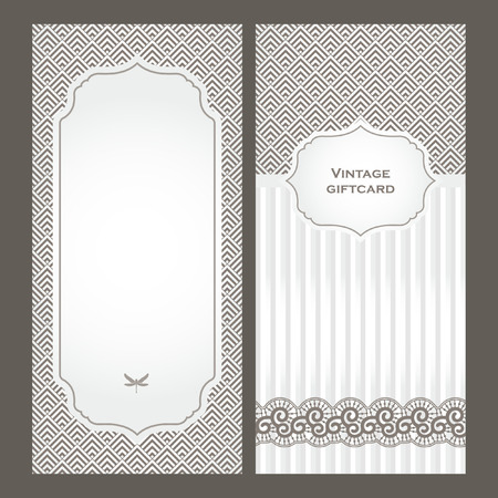 Art Deco vintage decorative frame. Retro card design template