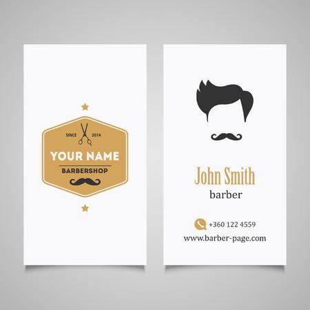 groomed: Hair salon barber shop Business Card design template