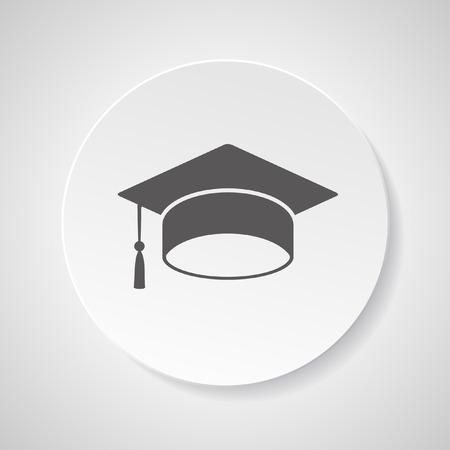 Graduation hat symbol