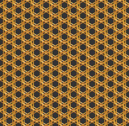 Art Deco hexagonal seamless vintage wallpaper pattern