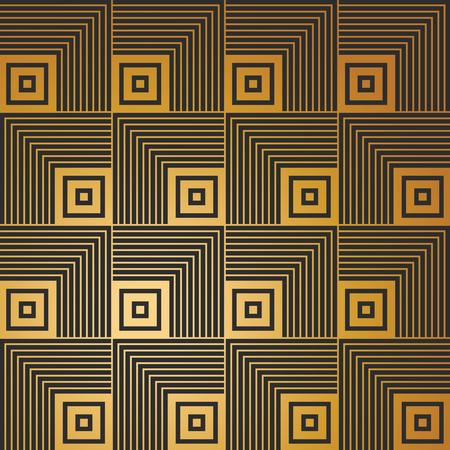 arte abstracto: Art déco Modelo inconsútil de la vendimia del papel pintado
