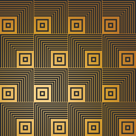 diagonal: Art Deco seamless vintage wallpaper pattern Illustration