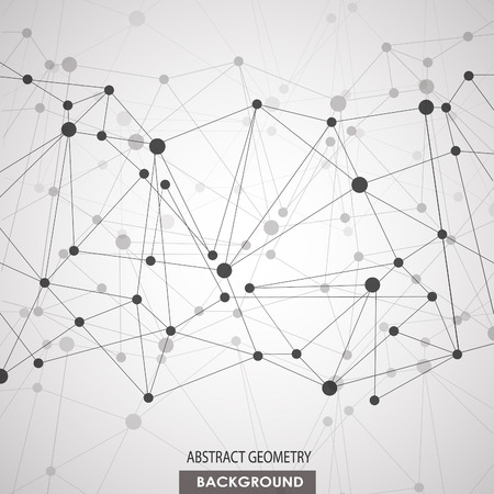 Fond polygonal avec connexion moléculaire abstraite Banque d'images - 41642164