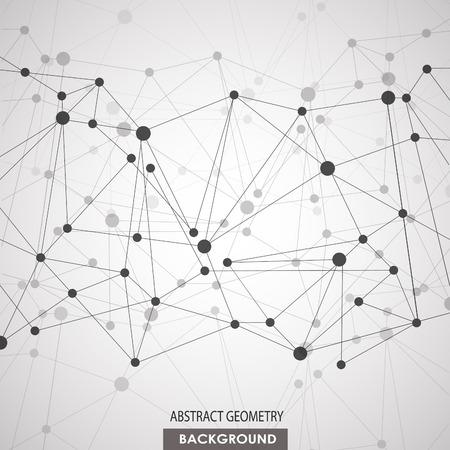 fila de personas: Fondo poligonal con conexi�n molecular abstracta Vectores