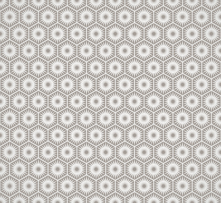 Art Deco hexagonal seamless vintage wallpaper pattern