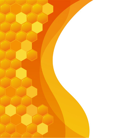 Abstract hexagonal Background with Honeycombs Illustration
