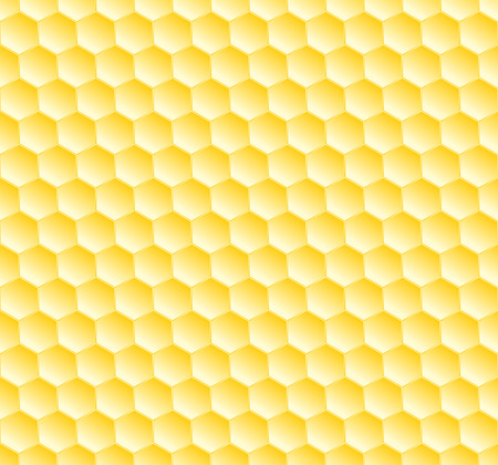 hexagonal seamless geometric pattern with honeycombs Illustration