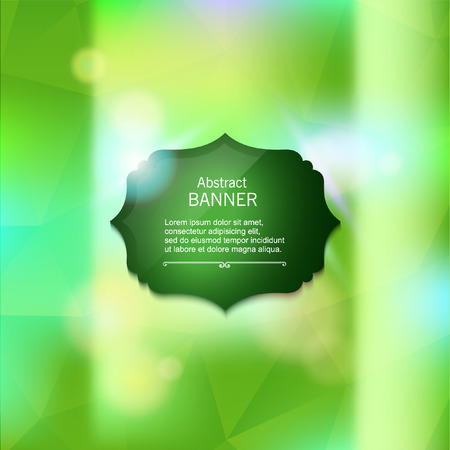shiny background: Abstract blurred green background with shiny label