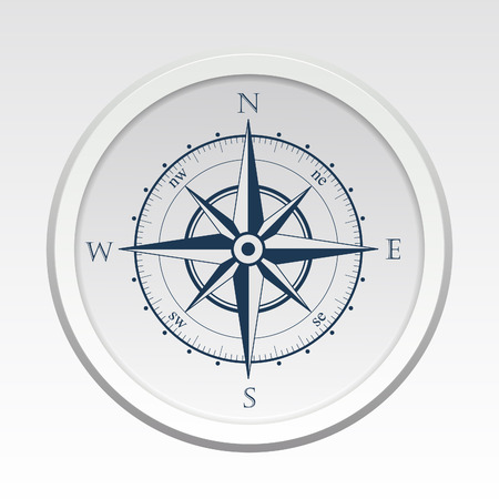 Wind rose compass vector flat trendy symbol
