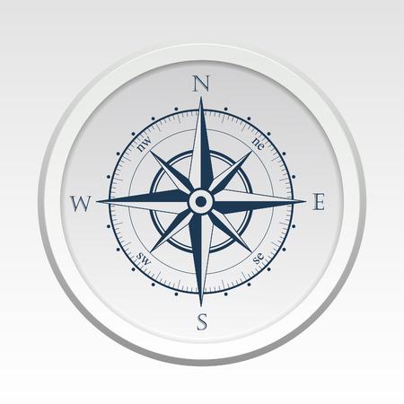 compass vector: Wind rose compass vector flat trendy symbol