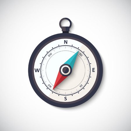 Kompas wind roos vector flat trendy symbool