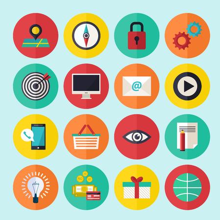 web icons: Web infographics icons set