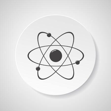 molecula: Átomo molécula icono de ilustración vectorial