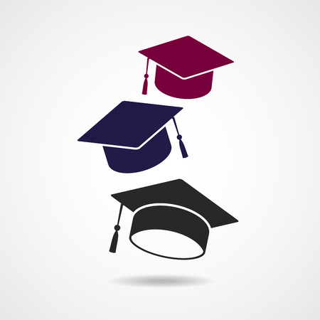 卒業帽子シンボル  イラスト・ベクター素材