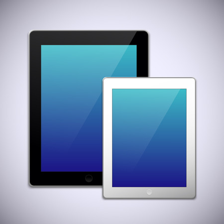 Realistic tablet pc computer design template
