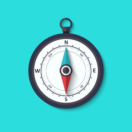 Windroos kompas plat symbool
