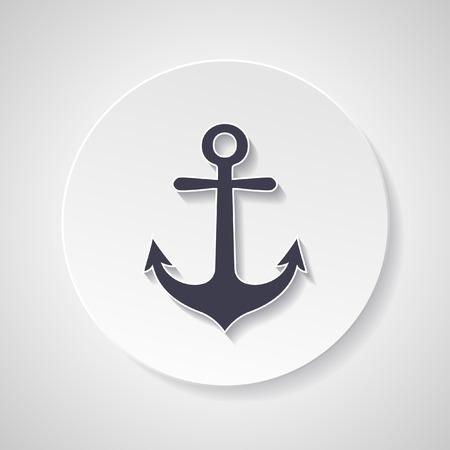 anchored: Anchor vector symbol