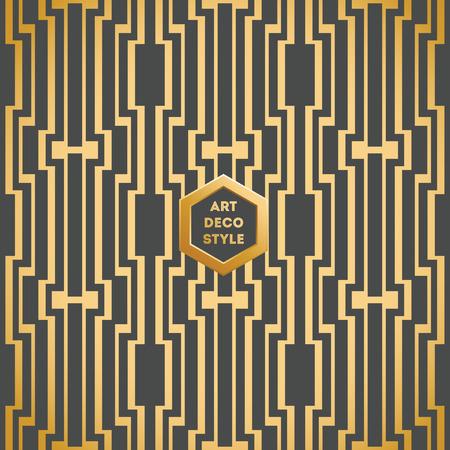 dekoration: Art Deco nahtlose Vintage Tapete Muster Illustration