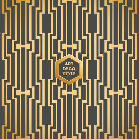 deco: Art Deco seamless vintage wallpaper pattern Illustration