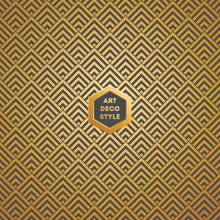 Art Deco seamless vintage wallpaper pattern Illustration