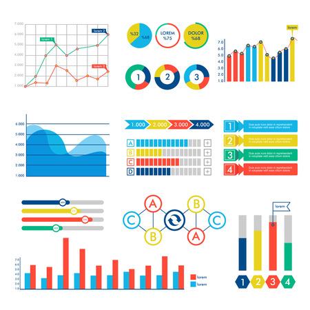 grafica de barras: Web de los elementos de diseño de vectores de Infografía. Vectores