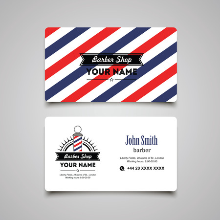 Hair salon barber shop Business Card design template.