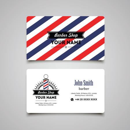 barbero: Peluquería peluquería plantilla de diseño de las tarjetas. Vectores