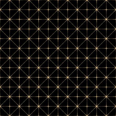 geometric lines: Art Deco seamless vintage wallpaper pattern. Illustration