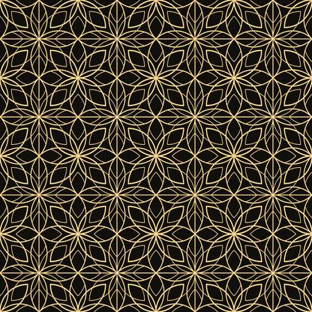 vintage pattern: Art Deco seamless vintage wallpaper pattern Illustration