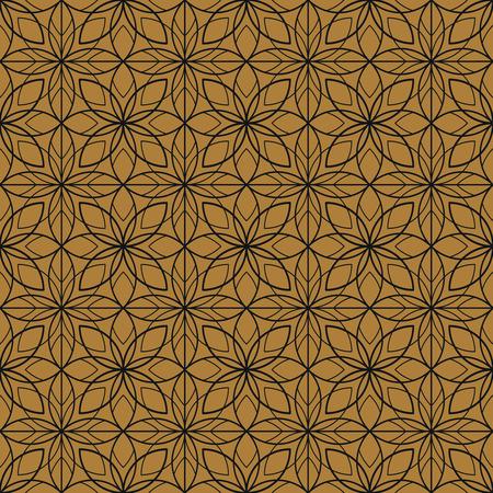 30s: Art Deco seamless vintage floral wallpaper pattern.