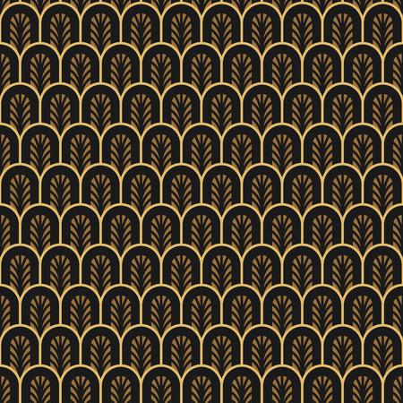 30s: Art Deco seamless vintage wallpaper pattern. Illustration