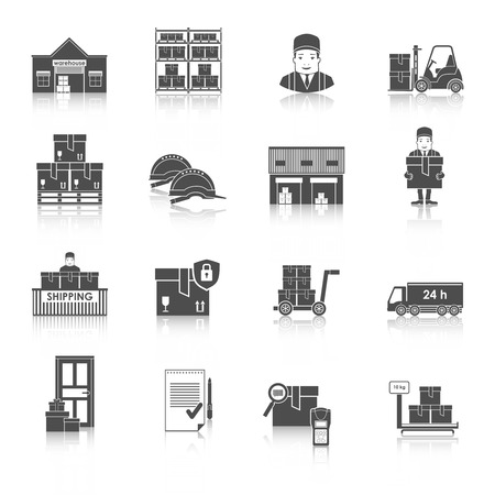 warehousing: Warehousing and Logistic and Delivery icons vector set.