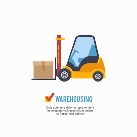 warehousing: Warehousing and Logistic track icon vector illustration.