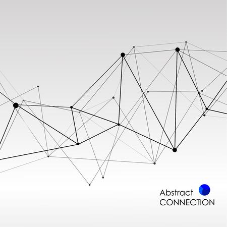 Veelhoekige achtergrond met abstracte moleculaire verbinding Stock Illustratie