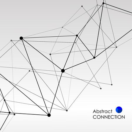 Fondo poligonal con conexión molecular abstracta Ilustración de vector
