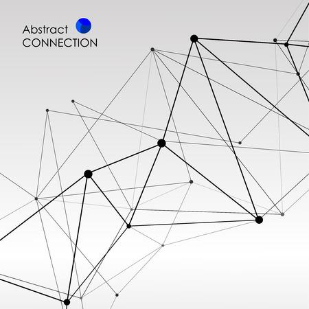 Fondo poligonal con conexión molecular abstracto. Foto de archivo - 43247488