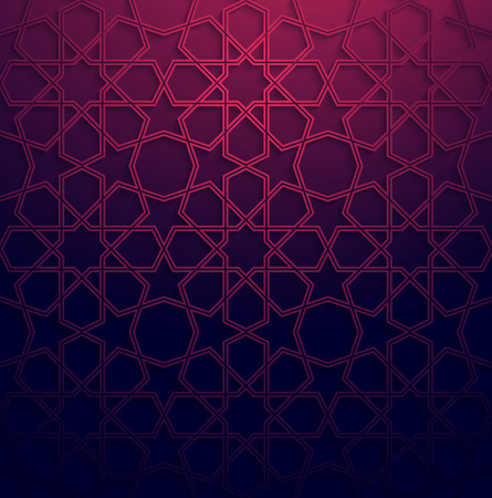 traditional pattern: Abstract white arabic art colorful background with shadow effect.