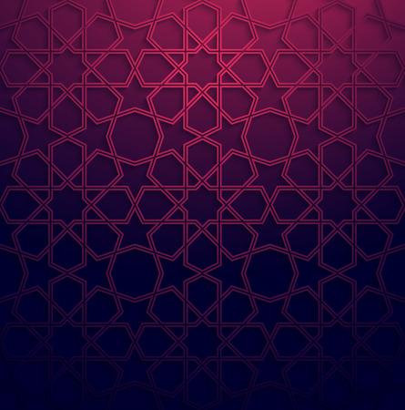 Résumé blanc art arabe fond coloré avec effet d'ombre. Vecteurs