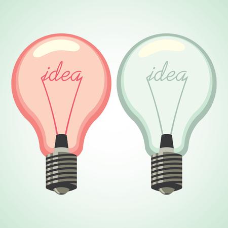 idea lamp: Lamp idea symbol