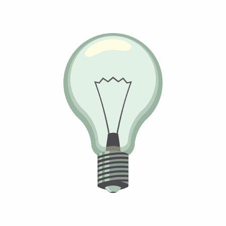 blue light background: Lamp symbol Illustration