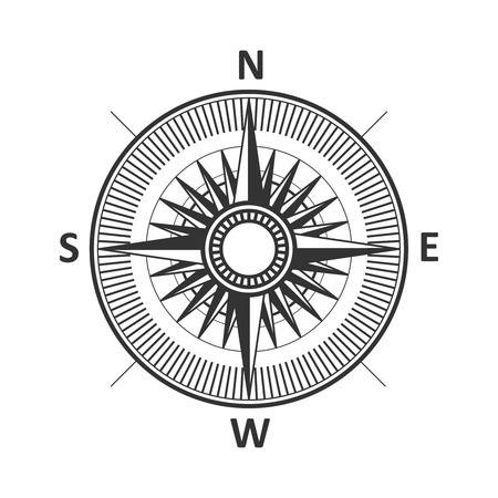 Compass vintage wind rose vector illustration.
