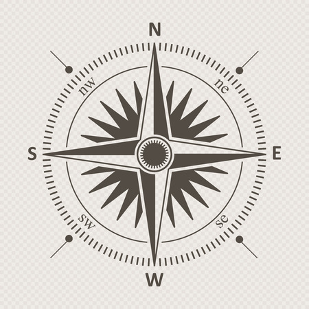 brawn: Compass vintage wind rose vector illustration.