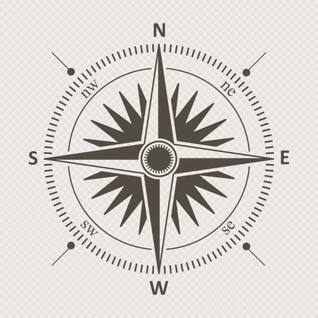 rosa de los vientos: El viento del compás de la vendimia se levantó ilustración vectorial.