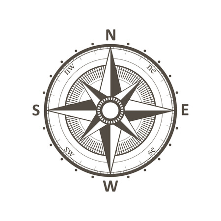 bussola: Compass vento vintage rose illustrazione vettoriale.
