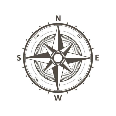 wind rose: Compass vintage wind rose vector illustration.